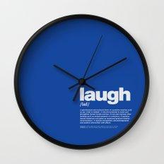 definition LLL - Laugh 6 Wall Clock