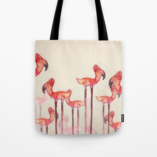 Transmogrified Flamingo Colony Tote Bag