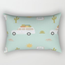 Road Trippin' in Mint Rectangular Pillow