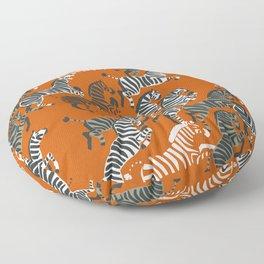 Zebra Race Floor Pillow