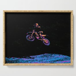 AIR TIME - Motocross Sports Art Serving Tray