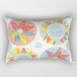 Geometric Florals Rectangular Pillow
