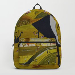 Park attractions abstract painting green panorama attraction Backpack