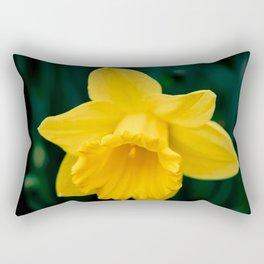 Yellow daffodil in spring Rectangular Pillow