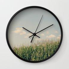 Campos de maíz Wall Clock