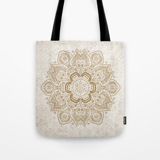 Mandala Temptation in Cream Tote Bag