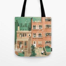 Hitchcock's Rear Window Tote Bag