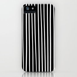 Vertical Lines Black & White iPhone Case