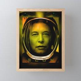 Elon Musk Framed Mini Art Print