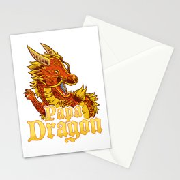Awesome Papa Dragon Fearsome Dragon Fantasy Dad Stationery Cards