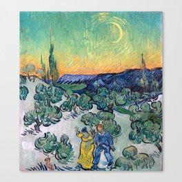 Couple Walking among Olive Trees, Vincent Van Gogh Canvas Print