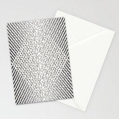 Stripes In Black & White Stationery Cards