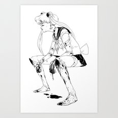Brawler Sailor Moon - Sketch Art Print