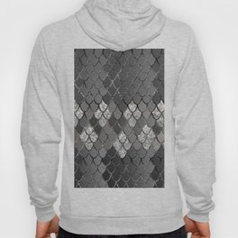 Mermaid Scales Silver Gray Glitter Glam #1 #shiny #decor #art #society6 Hoody