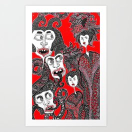 They can't be seen Art Print