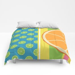 Summer Citrus Party Comforters