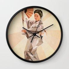 polygonal japanese dancer Wall Clock