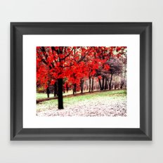First Snowfall Framed Art Print