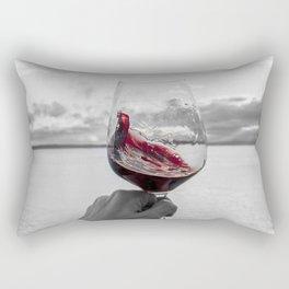 Swirling Red Rectangular Pillow