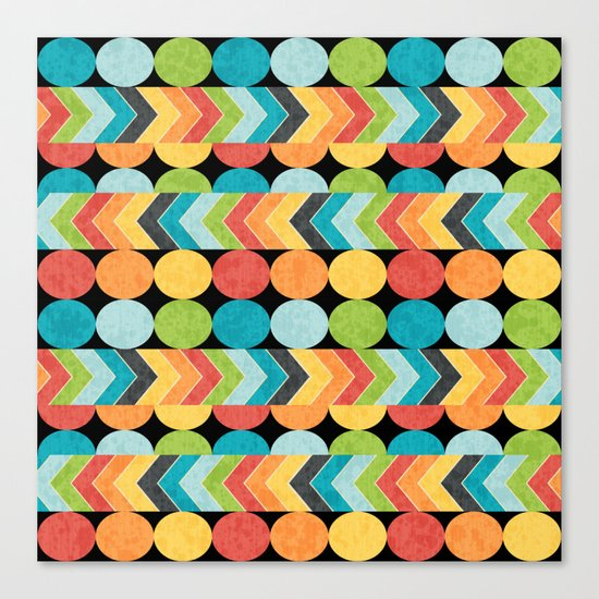Retro Color Play Canvas Print