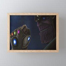 Avenger Film Endgame Thanos Framed Mini Art Print