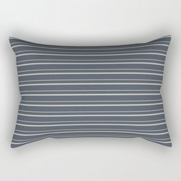 Benjamin Moore 2019 Color of the Year 2019 Metropolitan Light Gray on Hale Navy Blue Gray HC-154 Rectangular Pillow