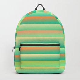 Green yellow orange gradients Backpack