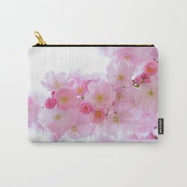 Pink Cherry Blossoms Carry-All Pouch