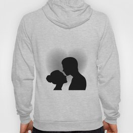 Couple with heart shaped background Hoody