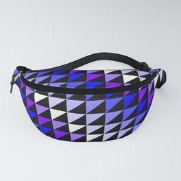 Triangle Repeating Blue and White Pattern Fanny Pack