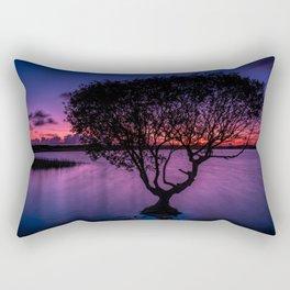 Kenfig pool sunset Rectangular Pillow