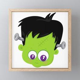 Cute Frankenstein Monster Framed Mini Art Print