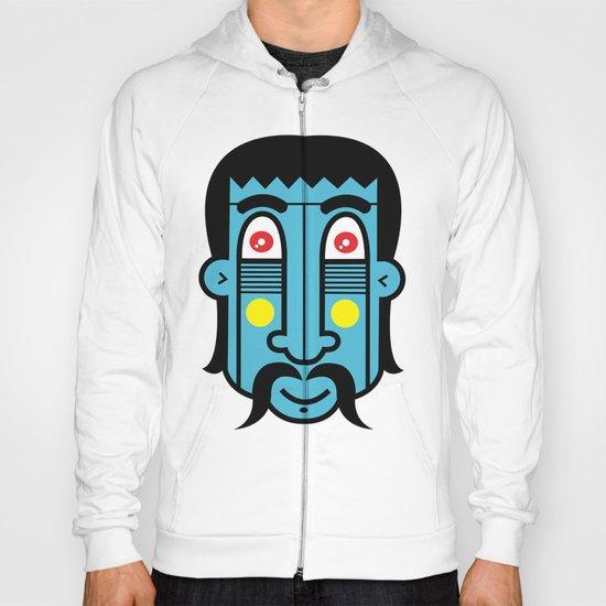 Blue Indian Spiritual Man Hoody