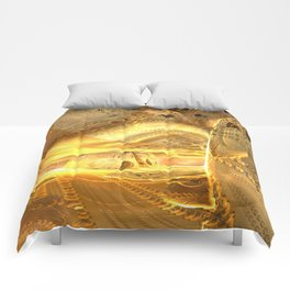 Open Furnace in Space Comforters