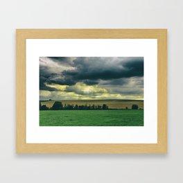 Broken skies Framed Art Print