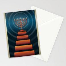 Art Deco Hanukkah Menorah Stationery Cards