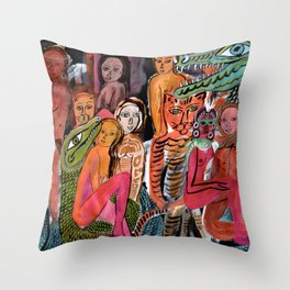 Tantric Carnival Throw Pillow