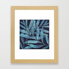 Watercolor Ferns Framed Art Print