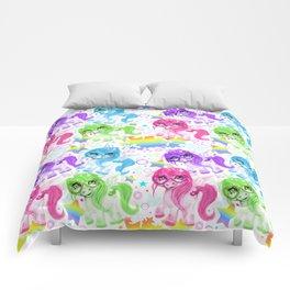 Rainbow CutieCorn Pattern Comforters