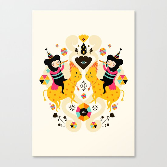 Music is happiness Canvas Print