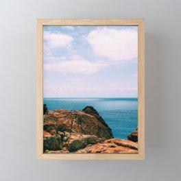 Fraser Island Cliff Framed Mini Art Print