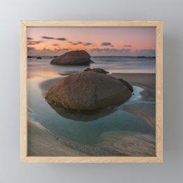 Rock beach Framed Mini Art Print