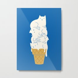 Cats Ice Cream Metal Print