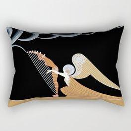 """Art Deco Design """"The Angel"""" Rectangular Pillow"""