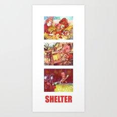 Shelter Girl  Art Print