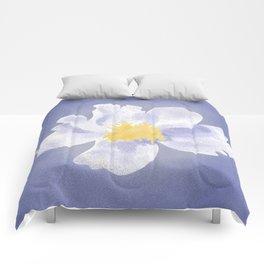 Peony on Blue Comforters
