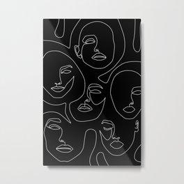 Faces in Dark Metal Print