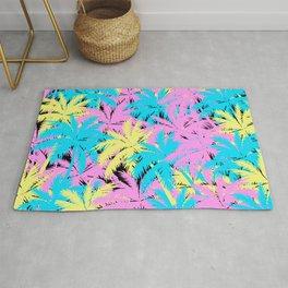 Neon Pastel Palm Trees Rug