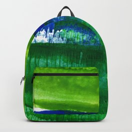 Encaustic Abstract No.27A by Kathy Morton Stanion Backpack