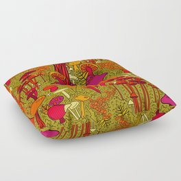 Mushrooms in the Forest Floor Pillow